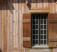 Brown Window with Pink Horizontal by marybedy