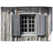 Gray Window Closeup Poster
