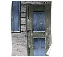Green Door Blue Shutter Poster
