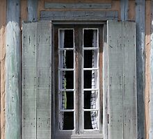 Window with Curtains by marybedy
