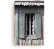 Window with Curtains Canvas Print