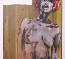 nude on wood 2. by resonanteye