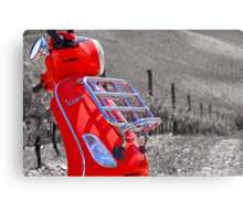 The Red Vespa Canvas Print