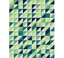 Blue And Green Geometric Grid Photographic Print