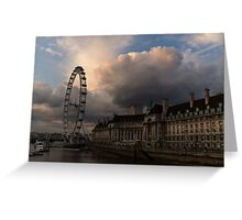 Sky Drama Around the London Eye Greeting Card