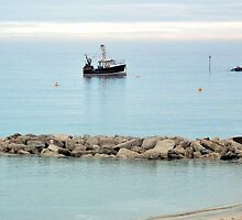 New Seeker Fishing Boat In Lyme Bay,Dorset UK by lynn carter