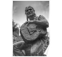 Texas Images - Willie Nelson Statue in Downtown Austin 1 Poster