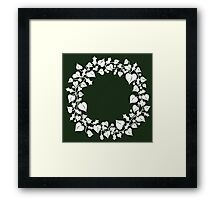 holly and ivy wreath Framed Print