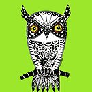 Green Owl by Casey Virata