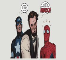 Abraham Lincoln & Spider-Man & Captain America by scipio
