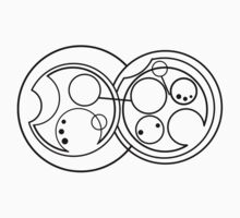 Don't Blink - Circular Gallifreyan Kids Clothes