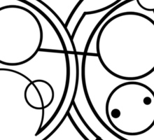 Don't Blink - Circular Gallifreyan Sticker