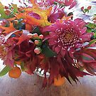 Autumn Mix with Mums by Barbara Wyeth