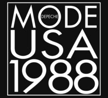 Depeche Mode : USA 1988 - 3 - White by Luc Lambert