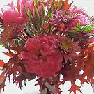 Autumn Mix with Imported Peonies by Barbara Wyeth