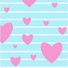 Vintage candy stripes pink heart case by bardenne
