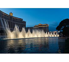 The Fabulous Fountains at Bellagio, Las Vegas Photographic Print