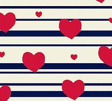 Vintage candy stripes sailor heart print case by bardenne