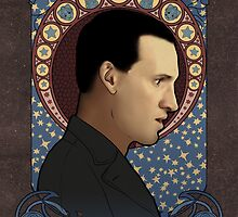9th Doctor art nouveau , Doctor Who , TARDIS by koroa