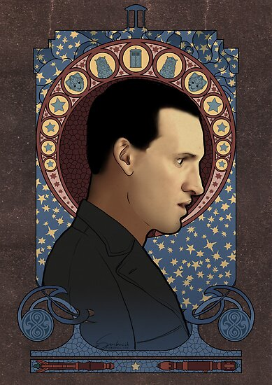 9th Doctor art nouveau , Doctor Who , TARDIS by koroa