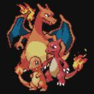 Charmander Evolutions by Flaaffy