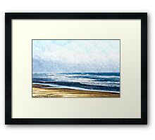 Summertime Oceanside Framed Print