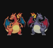 Pixel Charizards by Flaaffy