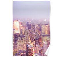New York City - Skyline - Dusk Poster