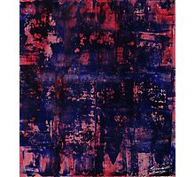 red blue study Photographic Print