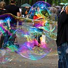 Bubbles in the park by Carolyn Boyden