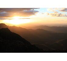 Sun rise over Mt Kaputar  Photographic Print
