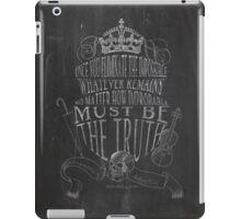 SHERLOCK chalkboard sketch iPad Case/Skin