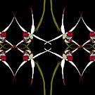Exotic Native Orchid Mirror Design by Leonie Mac Lean