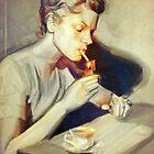 Lauren Bacall by Marinescu Raluca