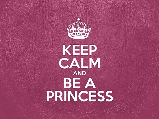 Keep Calm and Be a Princess - Glossy Pink Leather by sitnica