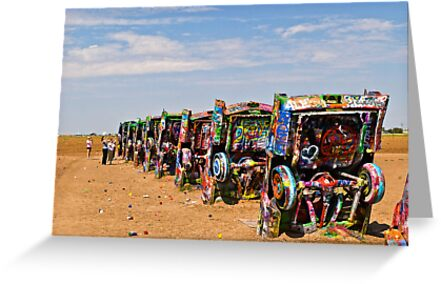Cadillac Ranch, Amarillo, Texas by Bryan D. Spellman