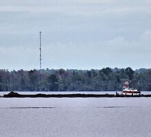 Barge and Tug by WeeZie