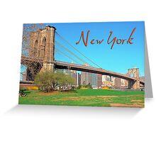 Brooklyn bridge Ney York  Greeting Card