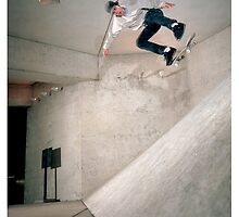 Nate Broussard - Kickflip  Houston, Texas by Travis Howell