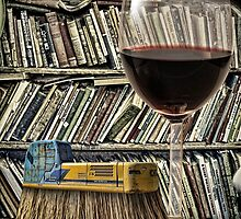 Book Brush and a Dry Burgundy by GolemAura