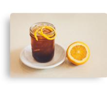 Glass of Ice Tea Canvas Print