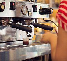 Barista Extracting a Shot of Espresso by visualspectrum