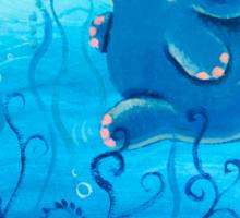 Underwater Adventure - Rondy the Elephant Painting Sticker
