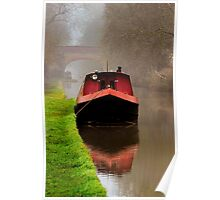 Narrowboat on the Canal Poster