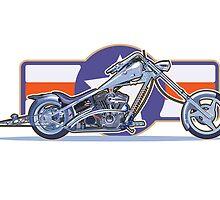 Chopper motorcycle by Michael Jones