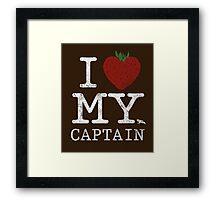 I Love My Captain Framed Print