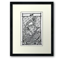 Death and music Framed Print