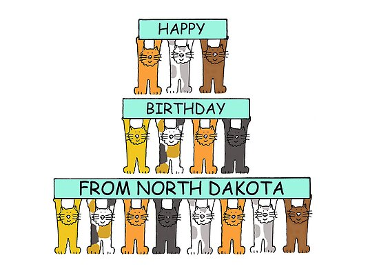 Cats Happy Birthday from North Dakota by KateTaylor