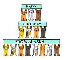 Cats Happy Birthday from Alaska by KateTaylor
