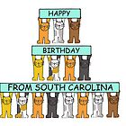 Cats Happy Birthday from South Carolina by KateTaylor